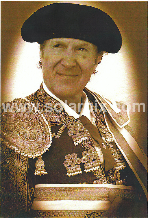 **ALL ROUND EXCLUSIVE  PICTURES FROM SOLARPIX.COM**.**WORLDWIDE SYNDICATION RIGHTS**.Frank Evans  who is 65 yrs old the last British bullfighter who has been fighting bulls in Spain since he was 17 yrs old he retired in 2005  pictured her in training in Chiclana Jerez De La frontera in Cadiz for his comeback...this pic:pick up picture of Frank with his costume posed..JOB REF:6719-CS1         DATE:25_06_08.**MUST CREDIT SOLARPIX.COM OR DOUBLE FEE WILL BE CHARGED* *UNDER NO CIRCUMSTANCES IS THIS IMAGE TO BE REPRODUCED FOR ANY ONLINE EDITION WITHOUT PRIOR PERMISSION*