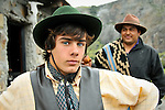 LOS GLACIARES NATIONAL PARK - FEBRUARY 9: Portrait of a young gaucho in Los Glaciares National Park in Argentina. The gaucho is one of the best known cultural symbols of Argentina.