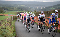fresh 2020 World Champion Julian Alaphilippe (FRA/Deceuninck-QuickStep) in his very first race in the Rainbow Jersey riding next to Marc Hirschi (SUI/Sunweb) up the Côte de la Redoute<br /> <br /> 106th Liège-Bastogne-Liège 2020 (1.UWT)<br /> 1 day race from Liège to Liège (257km)<br /> <br /> ©kramon