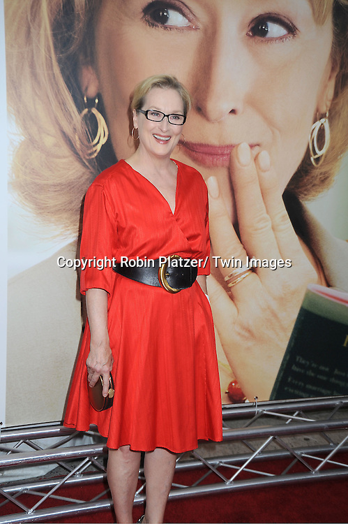 """Meryl Streep attends the World Premiere of """"Hope Springs"""" on August 6, 2012 at The SVA Theatre in New York City. The movie stars Meryl Streep, Tommy Lee Jones and Steve Carrell."""