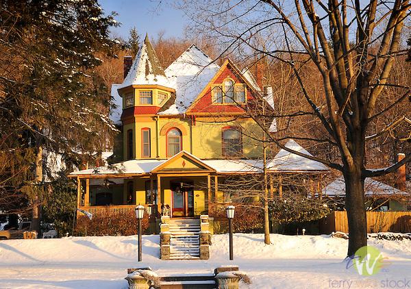 Victorian home, Grampian Boulevard, Williamsport, PA. in winter.