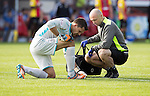 Partick Thistle v St Johnstone…10.09.16..  Firhill  SPFL<br />Tomas Cerny injures his foot and goes off injured<br />Picture by Graeme Hart.<br />Copyright Perthshire Picture Agency<br />Tel: 01738 623350  Mobile: 07990 594431