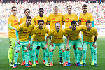 Players of FC Barcelona line up and pose for a photo prior to the La Liga match between Atletico de Madrid and FC Barcelona at the Santiago Bernabeu Stadium on 26 February 2017 in Madrid, Spain. Photo by Diego Gonzalez Souto / Power Sport Images