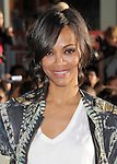 """Zoe Saldana at The Marvel Studios Premiere of """" Captain America : The First Avenger """"  held at The El Capitan Theatre in Hollywood, California on July 19,2011                                                                               © 2011 DVS/Hollywood Press Agency"""