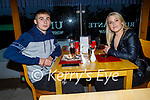 Enjoying the evening in Ristorante Uno on Friday, l to r: Tiernan Ball and Shauna Dowling.