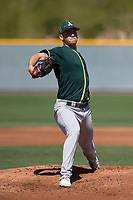 Oakland Athletics starting pitcher Chris Kohler (68) during a Minor League Spring Training game against the Chicago Cubs at Sloan Park on March 19, 2018 in Mesa, Arizona. (Zachary Lucy/Four Seam Images)