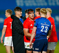 23th April 2021; RDS Arena, Dublin, Leinster, Ireland; Rainbow Cup Rugby, Leinster versus Munster; CJ Stander of Munster shakes hands with Tommy O'Brien of Leinster at the end of the game