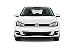 Car photography straight front view of a 2017 Volkswagen Golf S 5 Door Hatchback Front View