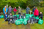 Volunteers who helped clean up Killarney National Park on Sunday morning front l-r: Claire Tangney, Lauren Mateer, Back row: Alan Ryan Con O'Leary, Diarmuid Griffin, Neil Antcliff, Stephen McSweeney, Eoin O'Sullivan, Breda joy and Paul Stewart