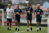 10th November 2020; Granja Comary, Teresopolis, Rio de Janeiro, Brazil; Qatar 2022 qualifiers; Gabriel Jesus, Danilo and Douglas Luiz of Brazil during training session in Granja Comary