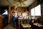 Rancher Carmen Langer and Reinie Jobin, an elder with the Lubicon nation, discuss problems in the area at Mr. Langer's home near Peace River, Alberta on July 14, 2010. Residents in the area have been complaining of strong odours in the air which they say are affecting the health of their animals and family members..Jimmy Jeong / www.jimmyshoots.com