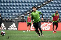 SEATTLE, WA - NOVEMBER 9: Raul Ruidiaz #9 of the Seattle Sounders FC at CenturyLink Field on November 9, 2019 in Seattle, Washington.
