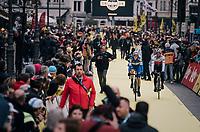 Niki Terpstra (NED/Quick-Step Floors) & Zdenek Stybar (CZE/Quick-Step Floors) rolling to the start<br /> <br /> 102nd Ronde van Vlaanderen 2018 (1.UWT)<br /> Antwerpen - Oudenaarde (BEL): 265km