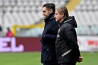 Davide Vagnati and DAvide Nicola coach of Torino FC during the Serie A football match between Torino FC and Genoa CFC at stadio Olimpico Grande Torino in Torino (Italy), February 13th, 2021. Photo Giuliano Marchisiano / Insidefoto