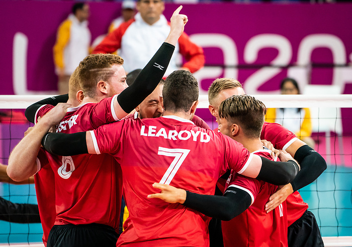 Lima 2019 - Sitting Volleyball // Volleyball assis.<br /> Canada wins the bronze medal in men's Sitting Volleyball // Le Canada remporte la médaille de bronze en volleyball assis masculin. 28/08/2019.