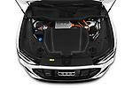 Car Stock 2020 Audi e-tron-Sportback S-Line 5 Door SUV Engine  high angle detail view