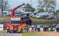 BRASILIA, DF,03 DE DEZEMBRO 2011 - FORMULA TRUCK - Formula Truck etapa Brasilia<br /> Acidente com Adalberto Jardim <br /> Local: Autodromo Internacional de Brasilia <br /> Foto: Ed Alves - News Free.