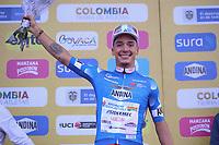 TUNJA - COLOMBIA, 13-02-2020: Simon Pelluad (SUI), ANDRONI GIOCATTOLI - SIDERMEC líder de la montaña después de la tercera etapa del Tour Colombia 2.1 2020 con un recorrido de 177,7 km que se corrió entre Paipa y Sogamoso, Boyacá. / Simon Pelluad (SUI), ANDRONI GIOCATTOLI - SIDERMEC climbing leader after the third stage of 177,7 km as part of Tour Colombia 2.1 2020 that ran between Paipa and Sogamoso, Boyaca.  Photo: VizzorImage / Darlin Bejarano / Cont