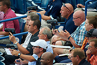 General view of scouts in the stands during the East Coast Pro Showcase on July 29, 2015 at George M. Steinbrenner Field in Tampa, Florida.  (Mike Janes/Four Seam Images)