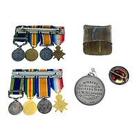 BNPS.co.uk (01202) 558833. <br /> Pic: Fellows/BNPS<br /> <br /> Pictured: Captain Walter Cornock's medal miniatures. <br /> <br /> A stoic letter from a British World War One officer saying he would rather 'die a man's death than feel I had failed' has come to light 104 years on.<br /> <br /> Captain Walter Cornock, of the 12th Battalion, Gloucestershire Regiment, distinguished himself during the Third Battle of Ypres in 1917 and the 1918 German Spring Offensive.<br /> <br /> The correspondence to his father, also named Walter, reveals how he was driven by an enormous sense of duty and was prepared to sacrifice his life for his country.<br /> <br /> The 25 year old, from Gloucester, said this was preferable to taking 'cowardly advantage' of a situation and surviving, adding that people are 'unnecessarily afraid of death'.