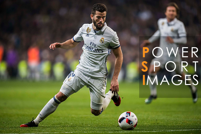 """José Ignacio Fernández Iglesias """"Nacho"""" of Real Madrid in action during their Copa del Rey Round of 16 match between Real Madrid and Sevilla FC at the Santiago Bernabeu Stadium on 04 January 2017 in Madrid, Spain. Photo by Diego Gonzalez Souto / Power Sport Images"""
