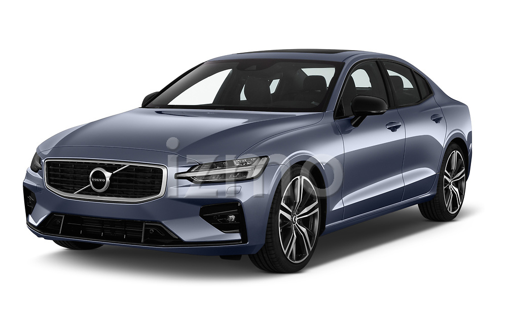 2019 Volvo S60 R-Design 4 Door Sedan angular front stock photos of front three quarter view