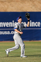 May 16, 2010: Shane Keough of the Stockton Ports during game against the High Desert Mavericks at Mavericks Stadium in Adelanto,CA.  Photo by Larry Goren/Four Seam Images