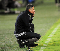 MEDELLIN -COLOMBIA- 01 -12 -2013.  Juan Carlos Osorio director tecnico del Atletico Nacional contra el Atletico Junior , encuentro de los cuadrangulares finales de la Liga Postobon jugado en el estadio Atanasio Girardot /  Juan Carlos Osorio coach of Atletico Nacional Nacional  against Atletico Junior, meeting the end-runs Postobon League played at Atanasio Girardot stadium .Photo: VizzorImage / Luis Rios  / Stringer