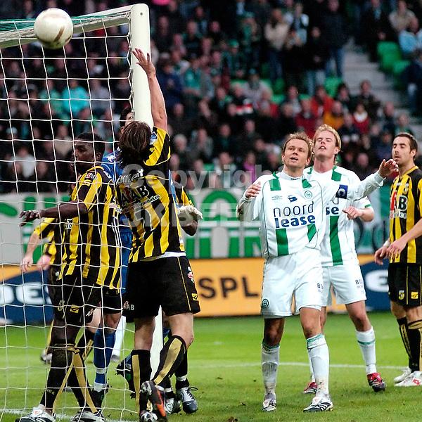 groningen - vitesse  eredivisie seizoen 2007-2008 04-11- 2007 laatste kans gaat naast doel *** Local Caption ***