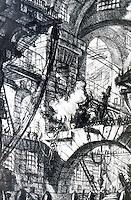 G.B. Piranesi:  Imaginary Prison.--The Smoking Fire.  Photo'77.