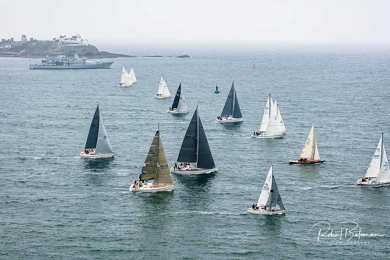 LE William Butler Yeats starts the annual Naval yacht race in Cork Harbour