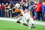 Texas Longhorns wide receiver Marcus Johnson (7) in action during the Advocare V100 Texas Bowl game between the Arkansas Razorbacks and the Texas Longhorns at the NRG Stadium in Houston, Texas. Arkansas defeats Texas 31 to 7.