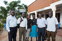 N. Uganda, Kitgum District. Peter C. Alderman Foundation project. Local PCAF staff: Richard Oketcho (counselor), Joseph Bongomin (works with child soldiers) Jean Laker (social worker), Milly Garce Amono (social worker), Joshua Tugumisirize (psychiatrist), Michael Okech (Kitgum psychiatric staff).