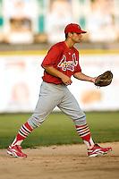Johnson City shortstop Pete Kozma (27) on defense versus Princeton at Hunnicutt Field in Princeton, WV, Friday, August 10, 2007.