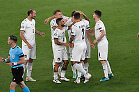 Celebration of Domenico Berardi of Italy for own goal of Merih Demiral of Turkey during the Uefa Euro 2020 Group stage - Group A football match between Turkey and Italy at stadio Olimpico in Rome (Italy), June 11th, 2021. Photo Andrea Staccioli / Insidefoto