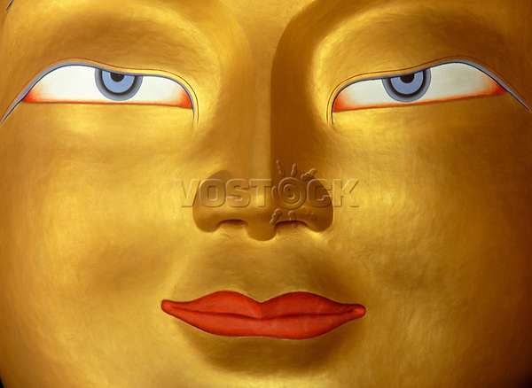 Buddha in Monastery, Close up