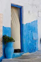 Afrique/Afrique du Nord/Maroc/Rabat: dans les ruelles de la kasbah des Oudaïas détail porte