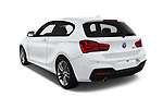 Car pictures of rear three quarter view of a 2018 BMW 1 Series M Sport Ultimate 3 Door Hatchback angular rear