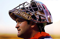 16 June 2006: Brian Schneider, catcher for the Washington Nationals, in action against the New York Yankees at RFK Stadium, in Washington, DC. The Yankees defeated the Nationals 7-5 in the first meeting of the two franchises...Mandatory Photo Credit: Ed Wolfstein Photo...