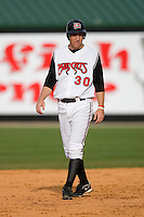 Todd Frazier #30 of the Carolina Mudcats takes his lead off of second base at Five County Stadium May 18, 2009 in Zebulon, North Carolina. (Photo by Brian Westerholt / Four Seam Images)