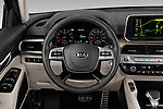 Car pictures of steering wheel view of a 2020 KIA Telluride SX 5 Door SUV