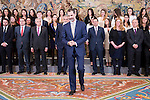 """King Felipe VI of Spain receive in audience to <br /> the promotion of students of the program """"Inside 2016"""" at Zarzuela Palace in Madrid, Spain. March 06, 2017. (ALTERPHOTOS/BorjaB.Hojas)"""