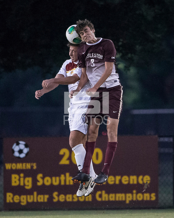 The Winthrop University Eagles played the College of Charleston Cougars at Eagles Field in Rock Hill, SC.  College of Charleston broke the 1-1 tie with a goal in the 88th minute to win 2-1.  Tucker Coons (3), Pietro Bottari (21)