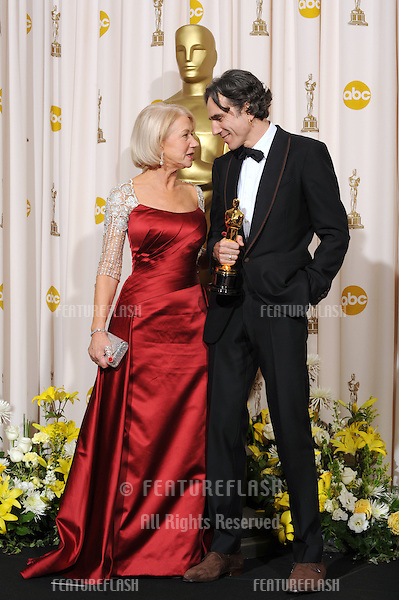 Daniel Day Lewis & Helen Mirren at the 80th Annual Academy Awards at the Kodak Theatre, Hollywood..February 24, 2008 Los Angeles, CA.Picture: Paul Smith / Featureflash