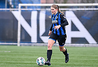 Raquel Viaene (5) of Club Brugge pictured during a female soccer game between Club Brugge Dames YLA and White Star Woluwe on the 12 th matchday of the 2020 - 2021 season of Belgian Scooore Womens Super League , saturday 30 January 2021  in Brugge , Belgium . PHOTO SPORTPIX.BE | SPP | DAVID CATRY