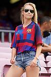 FC Barcelona's fan during La Liga match. August 29, 2021. (ALTERPHOTOS/Acero)