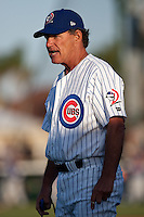 April 7th 2010: Tom Pratt pitching Coach of the Daytona Cubs, Florida State League High-A affiliate of the Chicago Cubs in the game against Embry-Riddle Aeronautical University at Jackie Robinson Ballpark in Daytona Beach, FL (Photo By Scott Jontes/Four Seam Images)