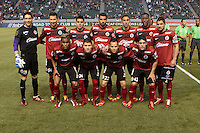 CARSON, California - March 12, 2014: The LA Galaxy defeated Los Xolos de Tijuana, Baja Norte, Mex. 1-0 during CONCACAF Champions League quarter final play at StubHub Center stadium.