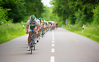 Team Sojasun setting the pace<br /> <br /> 2013 Tour of Luxemburg<br /> stage 1: Luxembourg - Hautcharage (184km)