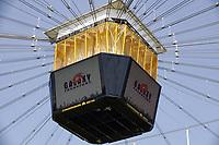 Das Logo der Frankfurt Galaxy zum letzten Mal auf dem Videowürfel der Commerzbank Arena